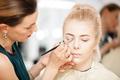 Makeup teacher in the demonstration process