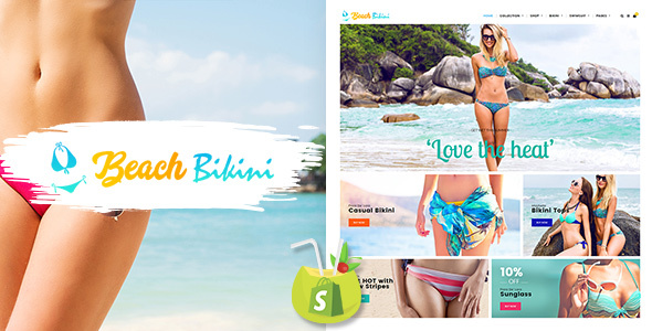 Bikini Beach - Lingerie, Bikini Shopify Theme - Shopify eCommerce
