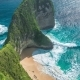 Waves Rolling on Manta Bay or Kelingking Beach on Nusa Penida Island, Bali, Indonesia - VideoHive Item for Sale