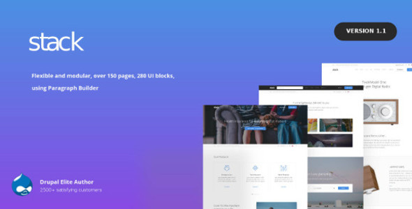 Stack – Multi purpose Drupal 8 Theme with Paragraph Builder