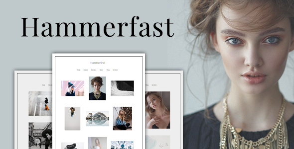 Hammerfest - Minimal creative WordPress photography theme - Photography Creative
