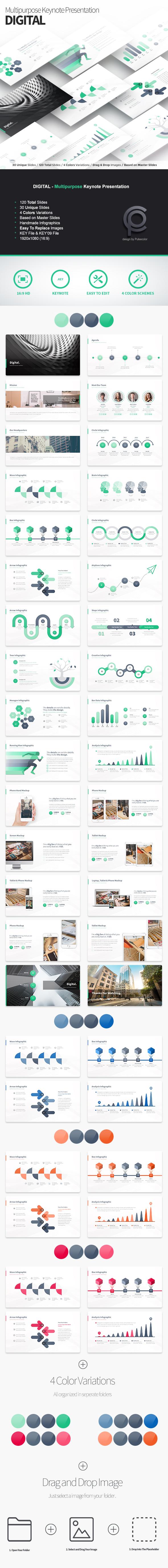 Digital - Multipurpose Keynote Presentation - Business Keynote Templates