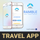 Travel Mobile App - Ramble - GraphicRiver Item for Sale