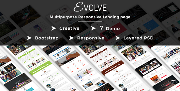 EVOLVE – Multipurpose Responsive HTML Landing Pages