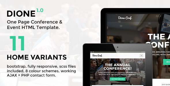 Dione – Conference & Event HTML Template