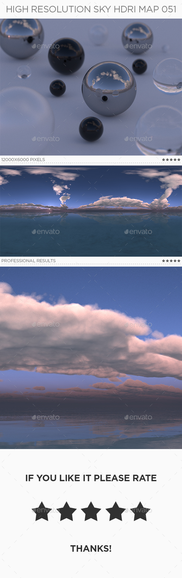High Resolution Sky HDRi Map 051 - 3DOcean Item for Sale