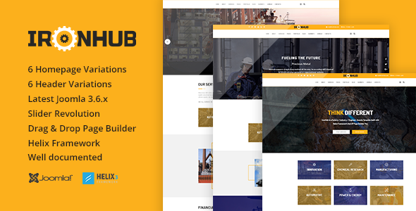 Image of IronHub - Industrial / Factory / Engineering Joomla Template
