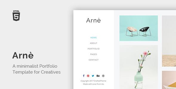 Arne - Minimal Creative Portfolio Template - Portfolio Creative