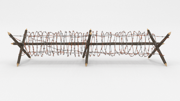 Barb Wire Obstacle 3 - 3DOcean Item for Sale