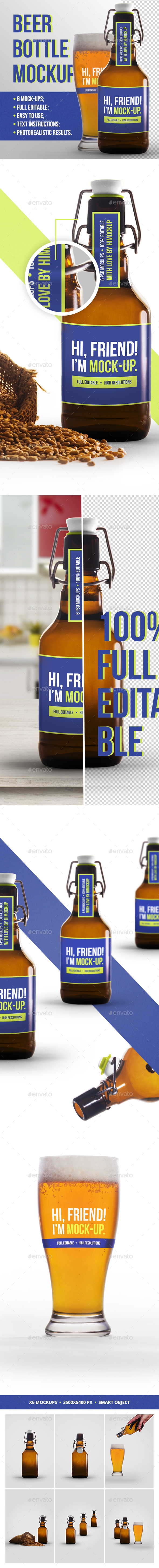 Beer Bottle Mockup - Food and Drink Packaging