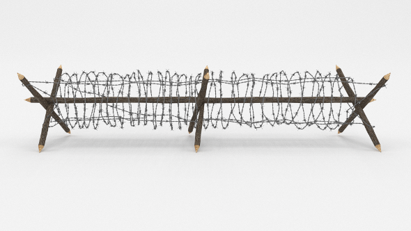 Barb Wire Obstacle 4 - 3DOcean Item for Sale