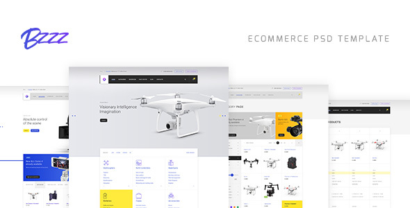 Bzzz – Gadgets eCommerce PSD Template