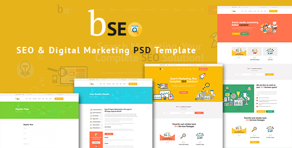 bSEO - SEO & Digital Marketing PSD Template