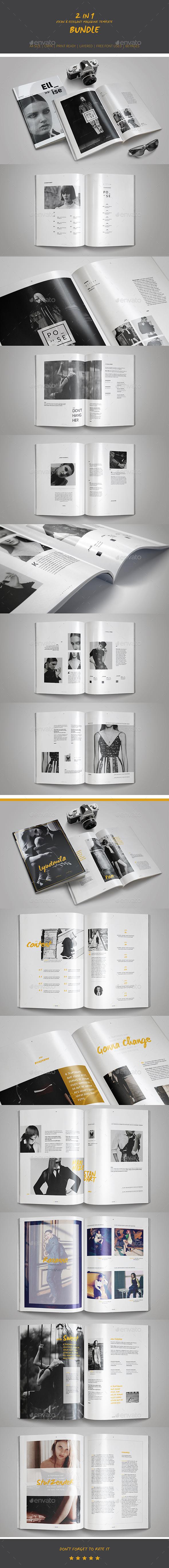 2 in 1 Multipurpose Magazine Template Bundle - Magazines Print Templates