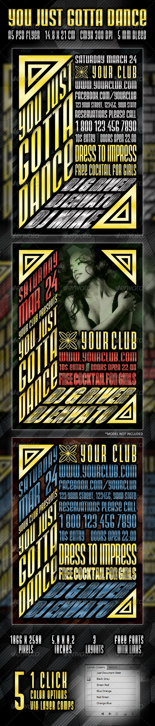 You just Gotta Dance Flyer - Clubs & Parties Events