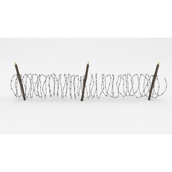 Barb Wire Obstacle 10 - 3DOcean Item for Sale