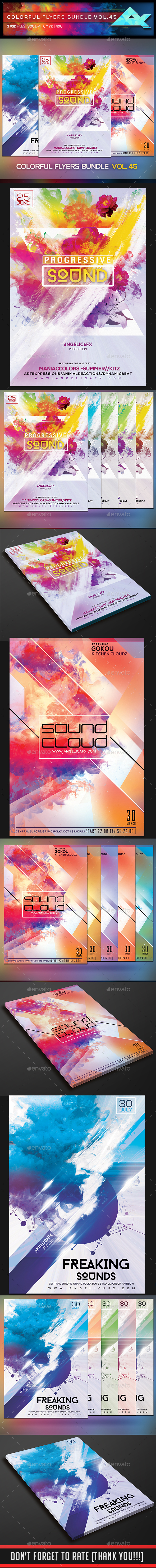 Colorful Flyers Bundle Vol. 45 - Events Flyers