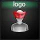 Glitch Atonal Futuristic Logo