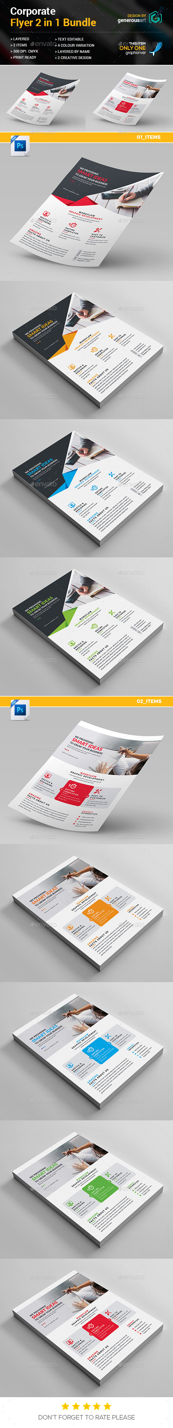 Flyers Bundle_2 in 1 - Flyers Print Templates