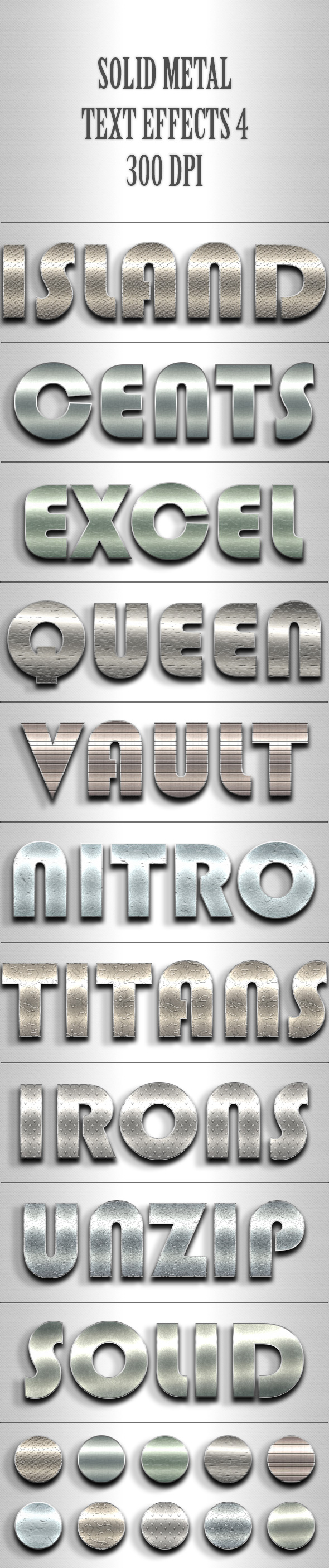 Solid Metal Text Effects 4 - Text Effects Actions