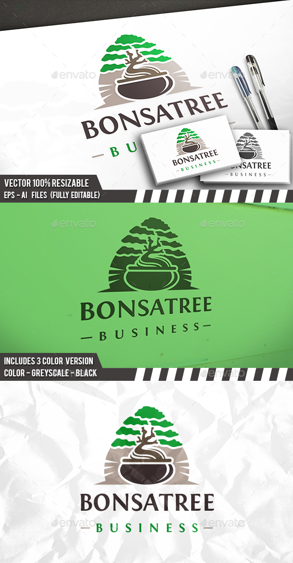 Bonsai Tree Logo - Nature Logo Templates