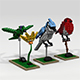Lego birds - 3DOcean Item for Sale