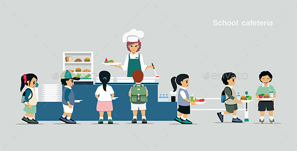 School cafeteria - Food Objects