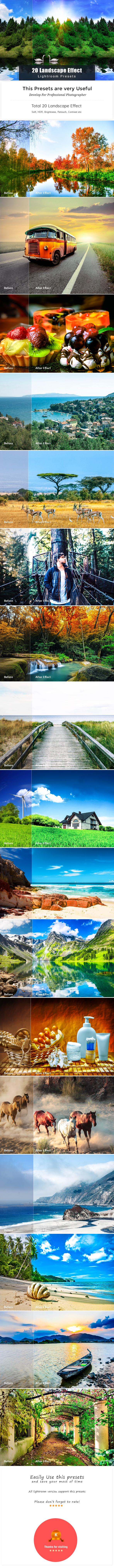 20 Landscape Effect | Lightroom Preset - Landscape Lightroom Presets