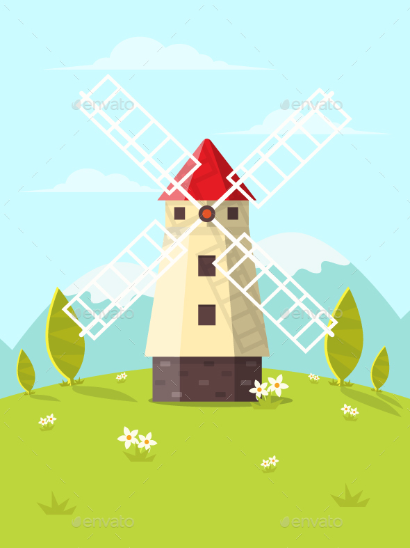 Windmill - Buildings Objects