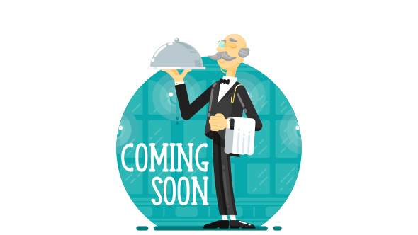 SVG Coming Soon\Under Construction Creative Page - Waiter