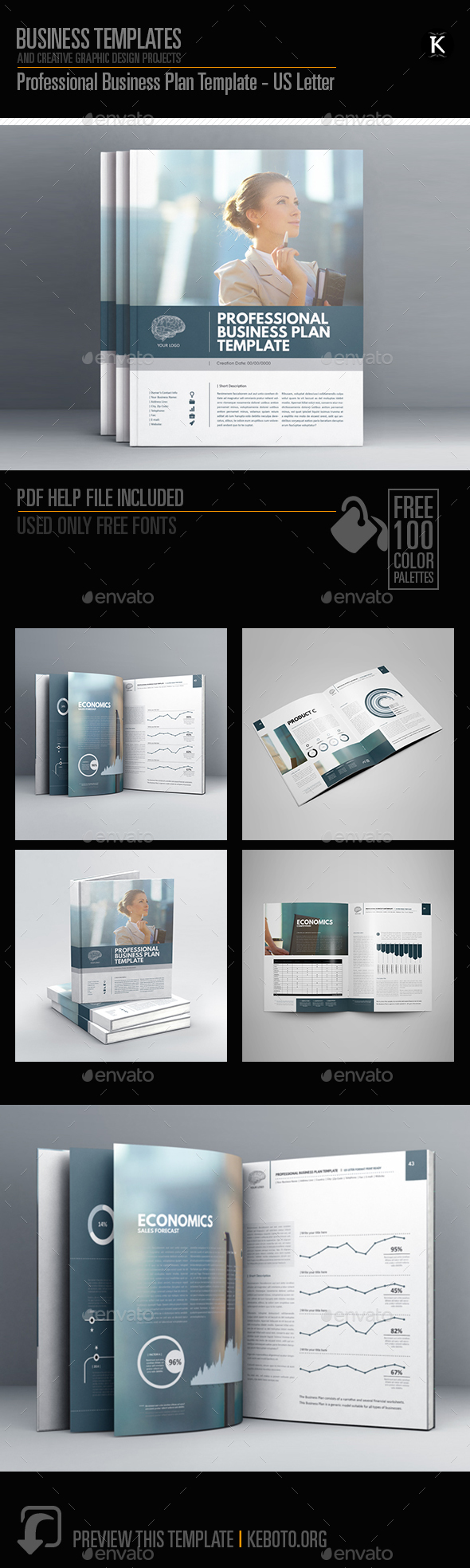 Professional business plan template us letter by keboto graphicriver professional business plan template us letter miscellaneous print templates flashek Gallery