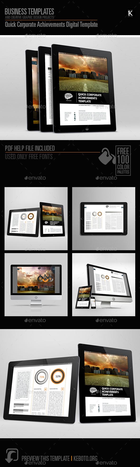 Quick Corporate Achievements Digital Template - ePublishing