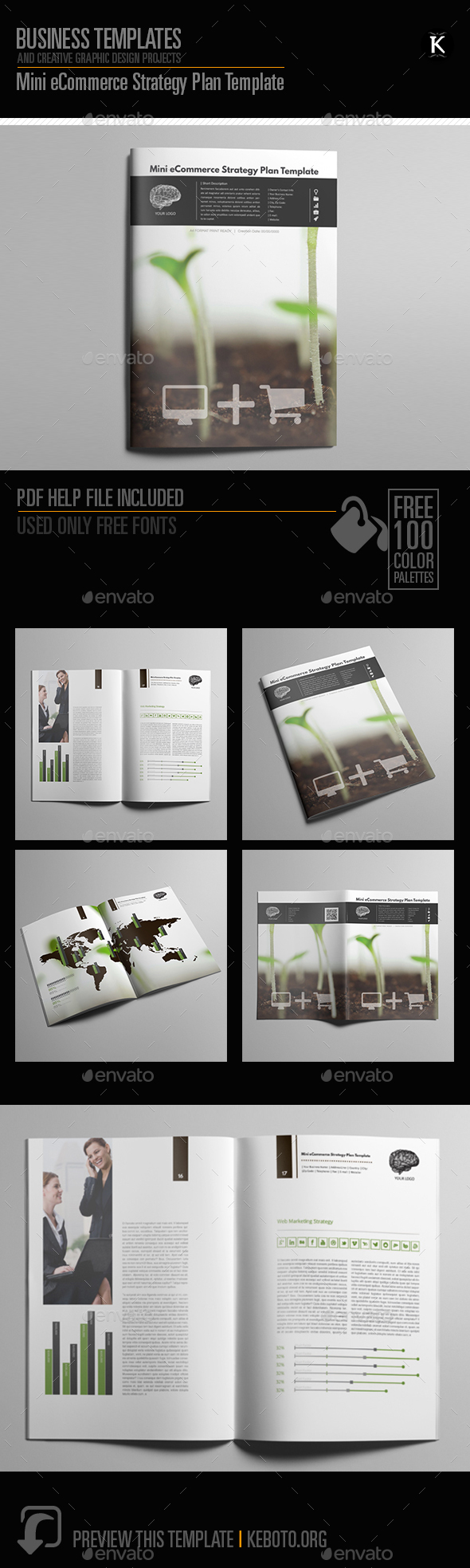 Mini eCommerce Strategy Plan Template - Miscellaneous Print Templates