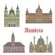 Austrian Travel Landmarks of Architecture Icon Set - GraphicRiver Item for Sale