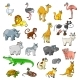 Zoo Animals with Birds and Pets Vector Cartoon Icons - GraphicRiver Item for Sale