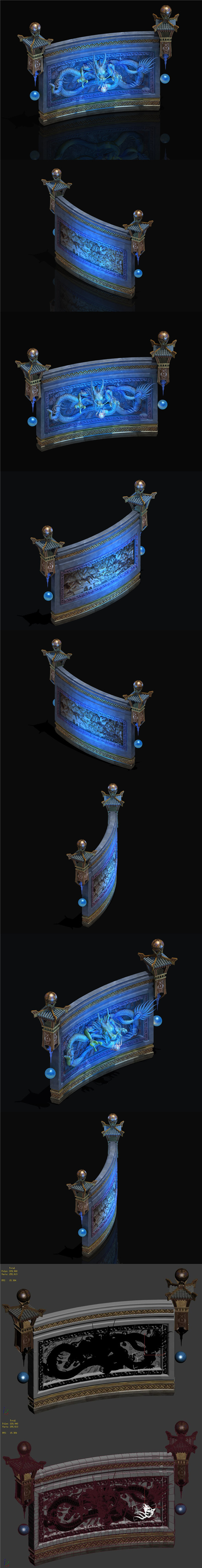 Chinese ancient architecture - Long wall - 3DOcean Item for Sale