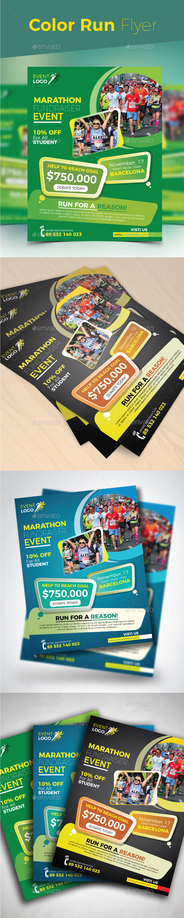 Color Run Flyer - Events Flyers