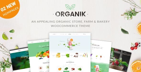 Organik - An Appealing Organic Store, Farm & Bakery WooComerce theme