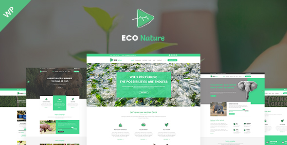 Eco - Ecology Nature  and Charity WordPress Theme - Environmental Nonprofit