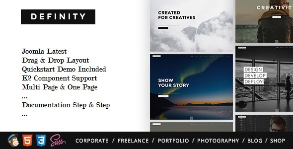 Definity – Multipurpose One/Multi Page Joomla Template