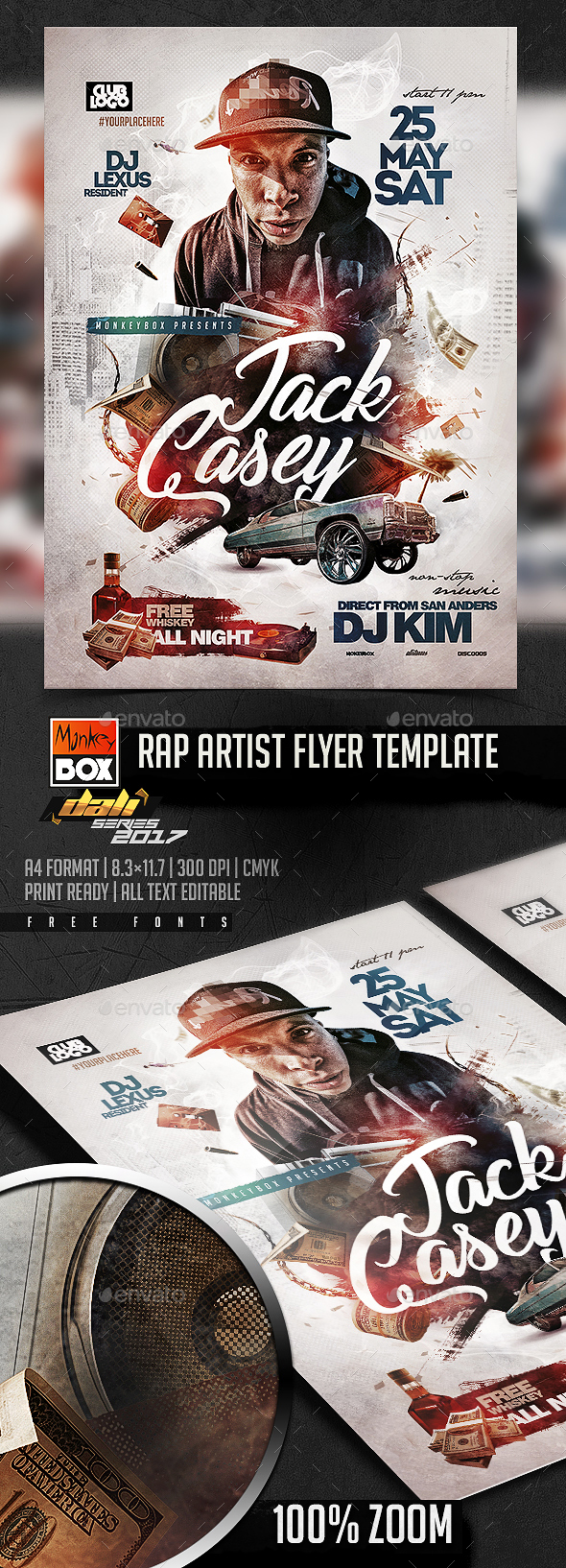 Rap Artist Flyer Template - Events Flyers