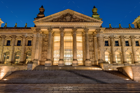 Detail of the Reichstag in Berlin - Stock Photo - Images