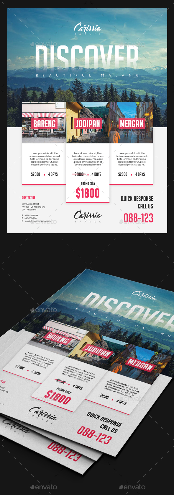 Travel Tours Flyer Template V3 - Holidays Events