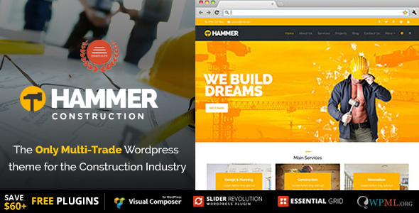Hammer - Multi-Trade, Construction Business WordPress Theme - Business Corporate
