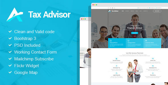 Tax Advisor - Financial Consulting/Attorney WordPress Theme - Business Corporate
