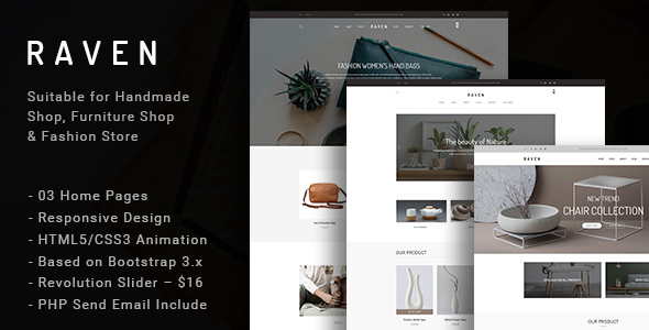 Raven - Responsive Handmade, Furniture Shop and Blog HTML5 Template - Fashion Retail