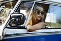 Woman Sitting in Front Seat of The Car Road Trip Travel - PhotoDune Item for Sale