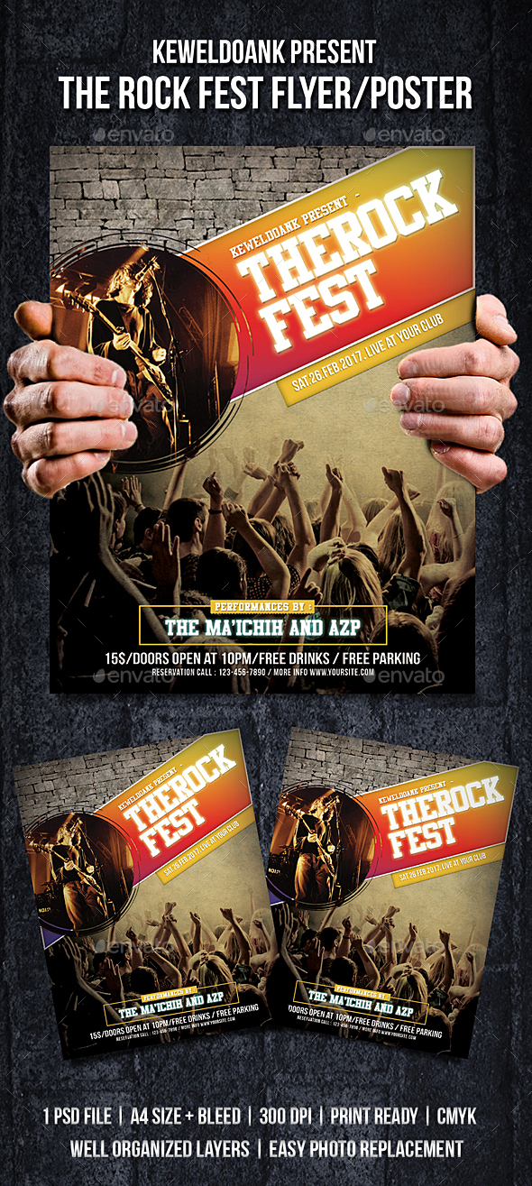 The Rock Fest Flyer / Poster - Events Flyers