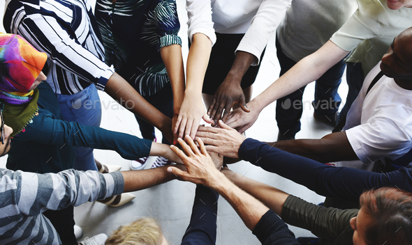 Startup Business People Teamwork Cooperation Hands Together - Stock Photo - Images