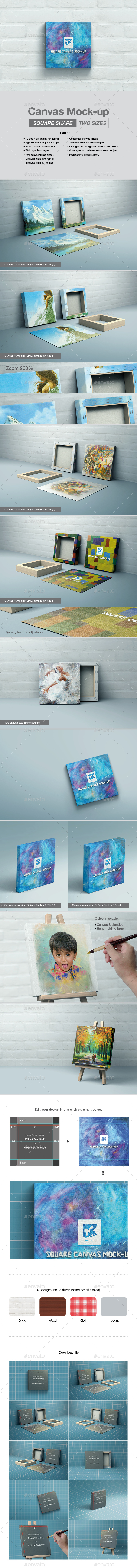 Square Canvas Mock-up - Print Product Mock-Ups